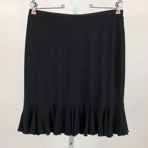 White House Black Market Black Stretch Skirt